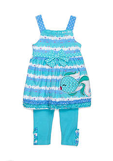 Nannette Kissy Fish Tunic and Legging 2-Piece Set Toddler Girls