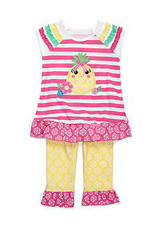 Nannette Stripe Pineapple Tunic and Legging 2-Piece Set Toddler Girls
