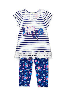 Nannette 'Love' Tunic and Leggings Set Toddler Girls