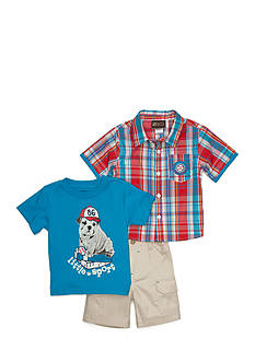 Boyz Wear by Nannette 3-Piece Plaid Little Sport Short Set