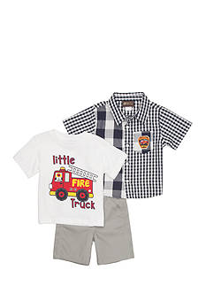 Boyz Wear by Nannette 3-Piece Fire Truck Short Set