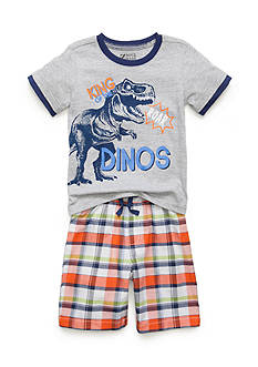 Boyz Wear by Nannette 2-Piece 'King of The Dinos' Tee and Shorts Set