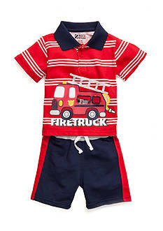 Boyz Wear by Nannette 2-Piece Fire Truck Tee and Shorts Set