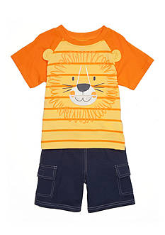 Boyz Wear by Nannette 2-Piece Lion Short Set