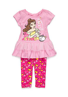 Disney Princess Beauty and the Beast Knit Top and Legging Set Toddler Girls