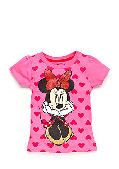 Disney® Printed Minnie Mouse Hearts Top Toddler Girls