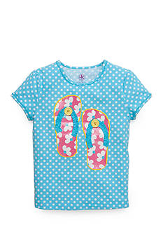 J Khaki™ Flip Flop Dot Tee Toddler Girls