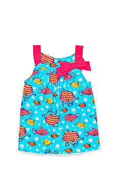 J Khaki™ Fish Print Tank Toddler Girls