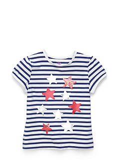 J Khaki™ Printed Stars Stripe Top Toddler Girls