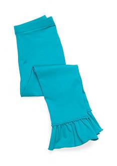 J. Khaki Solid Ruffle Leggings Toddler Girls