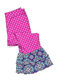 J Khaki™ Polka Dot Ruffle Leggings Toddler Girls