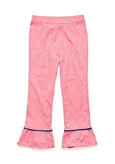J. Khaki Solid Ruffle Pants Toddler Girls