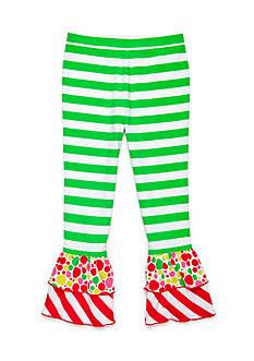 J. Khaki Stripe Ruffle Pant Toddler Girls