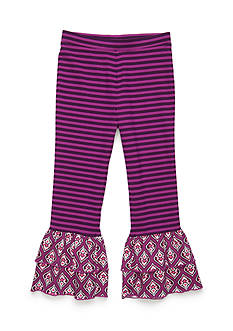 J. Khaki Ruffle Pants Toddler Girls