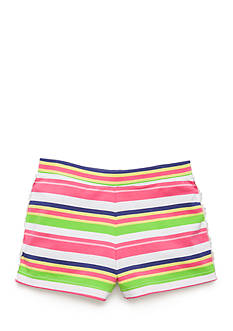 J. Khaki Crochet Trim Short Toddler Girls