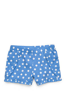 J. Khaki Polka Dot Shorts Toddler Girls