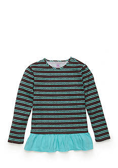 J. Khaki Striped Baby Doll Top Toddler Girls