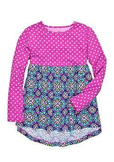 J. Khaki Dot Medallion Babydoll Top Toddler Girls