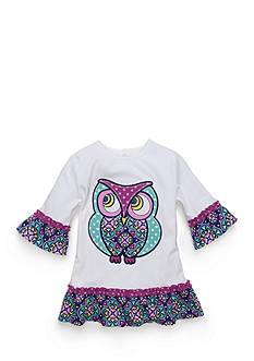 J. Khaki Owl Babydoll Top Toddler Girls