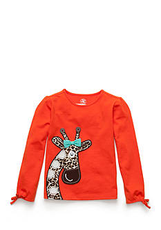J. Khaki Long Sleeve Giraffe Tee Toddler Girls