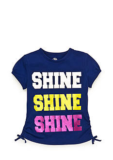 J Khaki™ 'Shine Shine Shine' Glitter Top Toddler Girls