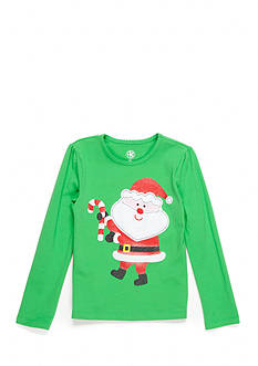 J. Khaki Santa Tee Toddler Girls