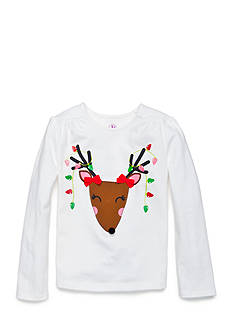 J. Khaki Reindeer Tee Girls Toddler Girls