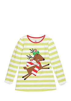 J. Khaki Reindeer Knit Top Toddler Girls