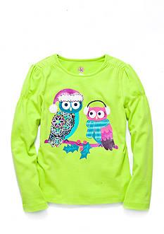 J. Khaki Snow Owl Top Toddler Girls