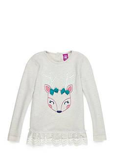 J. Khaki Deer Sparkle Sweater Top Toddler Girls
