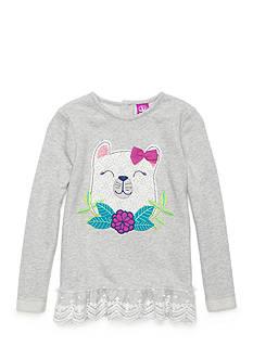 J. Khaki Bear Sparkle Sweater Toddler Girls