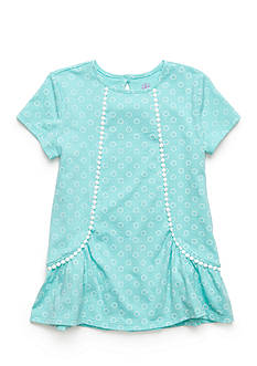J. Khaki Pom Pom Trim Knit Top Toddler Girls
