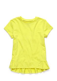 J. Khaki Basic Ruffle Top Toddler Girls