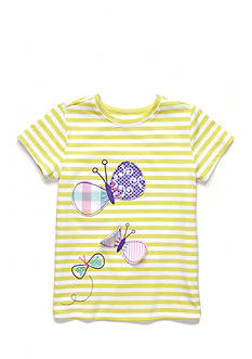 J. Khaki Stripe Butterfly Tee Toddler Girls