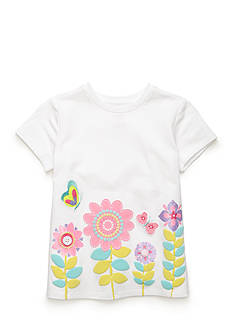 J. Khaki Flower Border Tee Toddler Girls