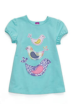 J. Khaki Sticked Bird Babydoll Top Toddler Girls