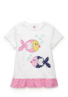 J. Khaki Two Fish Tee Toddler Girls