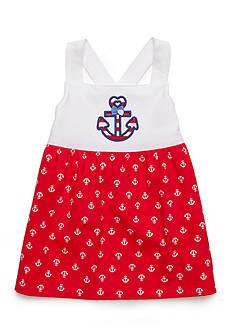 J. Khaki Anchor Babydoll Top Toddler Girls