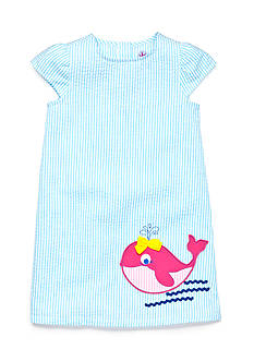 J Khaki™ Seersucker Whale Dress Toddler Girls