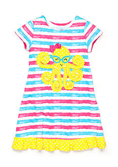 J Khaki™ Stripe Octopus Dress Toddler Girls