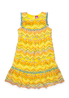 J Khaki™ Flip Flop Chevron Print Chiffon Dress Toddler Girls