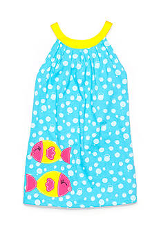 J Khaki™ Bubble Print Fish Dress Toddler Girls