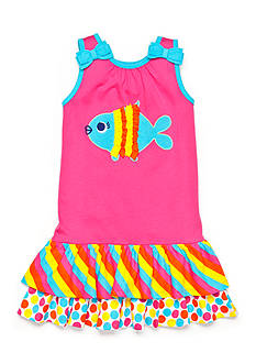 J Khaki™ Tiered Ruffle Fish Dress Toddler Girls