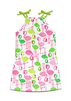 J Khaki™ Knit Flamingo Print Dress Toddler Girls
