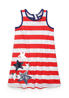 J Khaki™ Patriotic Striped Dress Toddler Girls