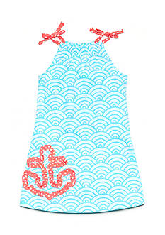 J Khaki™ Knit Printed Anchor Dress Toddler Girls