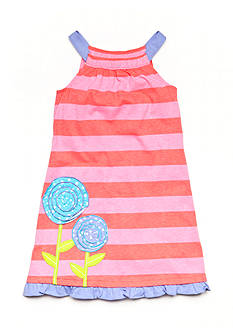 J Khaki™ Knit Striped Flower Dress Toddler Girls