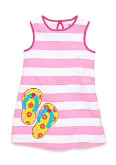 J Khaki™ Flipflop Stripe Dress Toddler Girls