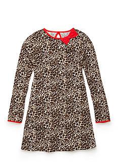 J. Khaki Animal Print Dress Toddler Girls