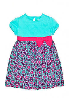J Khaki™ Flower Medallion Knit Dress Toddler Girls